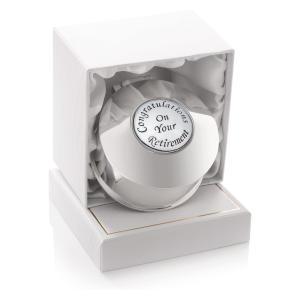 Retirement Silver Trinket Box