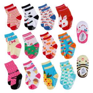 14 Pairs Anti-slip Toddler Socks