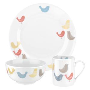 6 Piece Birds Porcelain Plate Set