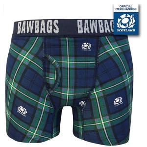 Bawbags Scotland Rugby Tartan Boxer Shorts