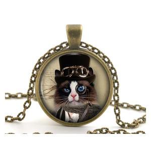 Steampunk Cat Necklace Pendant