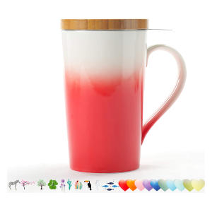 Ceramic Tea-Mug with Infuser & Lid