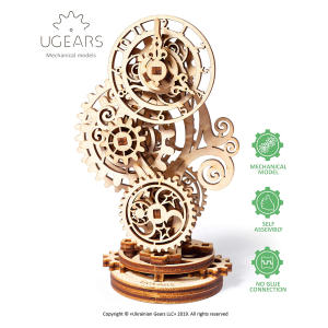 Steampunk Clock Wooden Puzzle