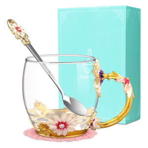 Flower Glass Tea Cup