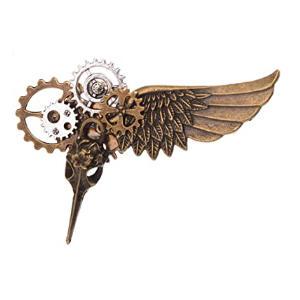Steampunk Gears Clock Brooch