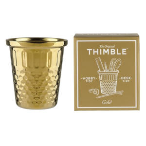 Giant Thimble Pen Pot - Gold