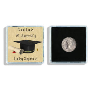 Good Luck At University Lucky Sixpence