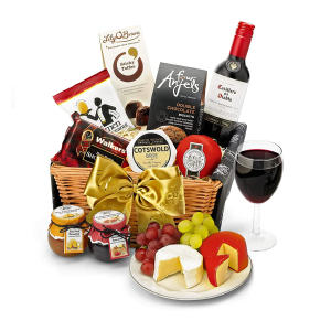 Hamper With Red Wine