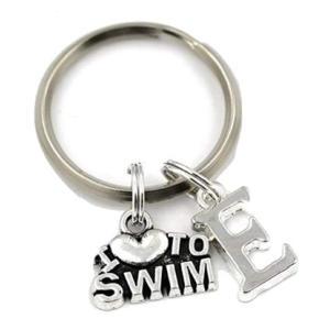 I Love To Swim Keyring