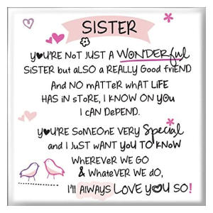 Inspired Words Magnet - Sister