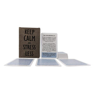 Keep Calm and Stress Less Cards