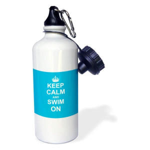 Keep Calm and Swim On Water Bottle