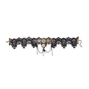 Steampunk Lace Choker Necklace