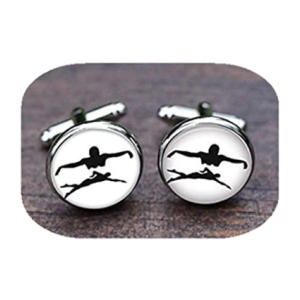 Men's Swimmer Cufflinks