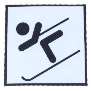 A Sporty Skier Microfibre Cloth