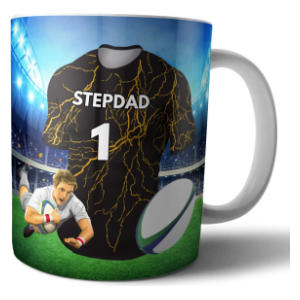 Rugby Mug for A Stepdad