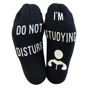 Novelty Student Studying Socks