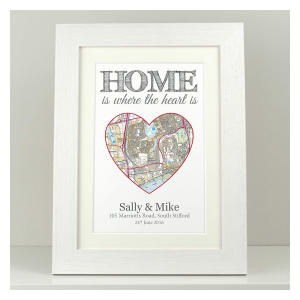 Personalised Map House Print