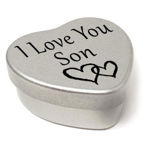 Personalised Son Heart Tin