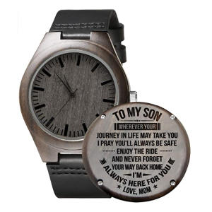 Personalised Son Wooden Watch