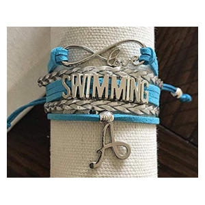 Personalised Swim Charm Bracelet
