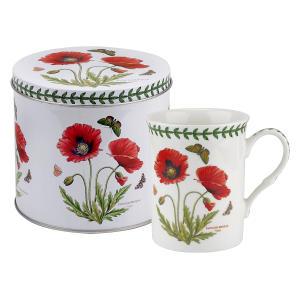 Poppy Motif Mug and Tin Set