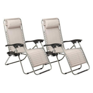 Set of 2 Lounger Garden Chairs