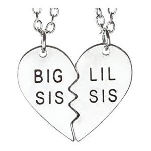 Big Sis & Lil Sis Heart Pendant
