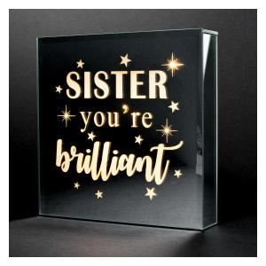 Sister Light Up Glass Gift