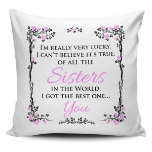 Sisters Quote Cushion