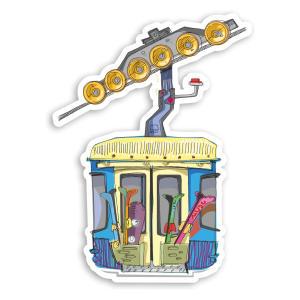 Ski Lift Cable Car Vinyl Sticker