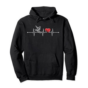 Skier Heartbeat Hoodie