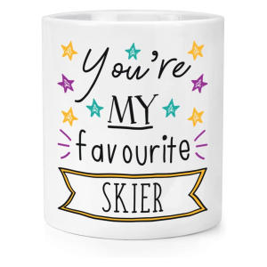 Novelty Favourite Skier Mug
