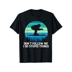 Funny Skier T Shirt