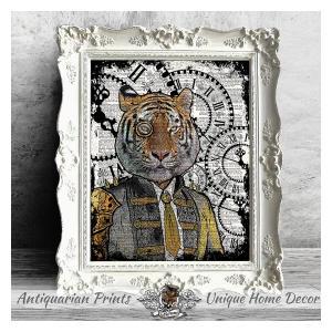 Tiger Steampunk Art Print
