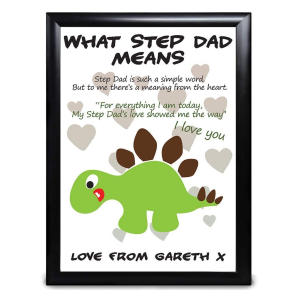 Personalised Step Dad Definition Print