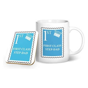 First Class Step-Dad Mug and Coaster