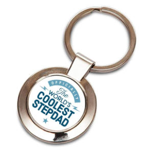 Coolest Stepdad Novelty Keyring