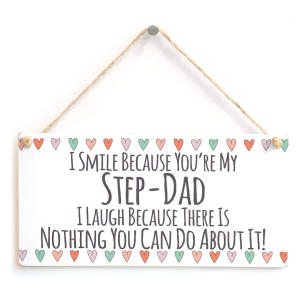 Stepdad Wooden Plaque