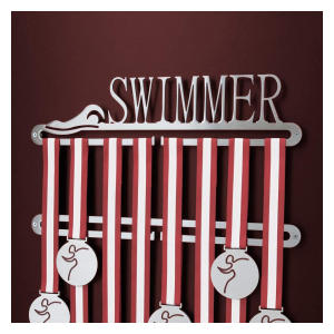 Swimmer Medal Display Holder