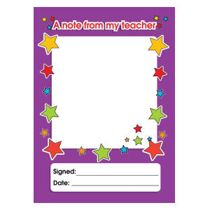Write-On Teacher Reward Pad