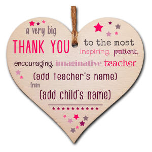 Thank You Teacher Heart Plaque