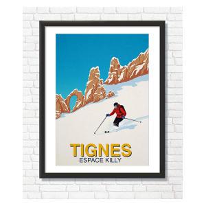 Tignes Skier Poster