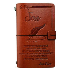 To My Son Leather Journal