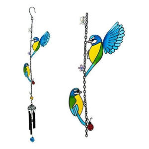 Two Pretty Birds Hanging Wind Chime