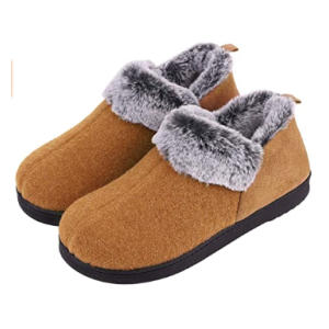Wool-Like Fleece Clog Slippers