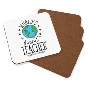 World's Best Teacher Coasters