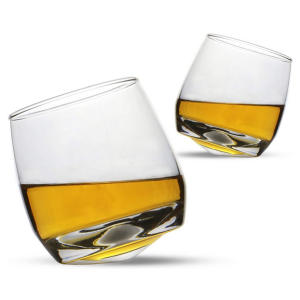 Set of 2 Rocking Whiskey Glasses