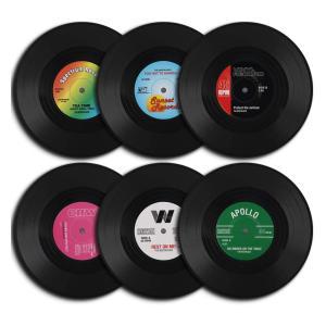 6 Vinyl Coasters