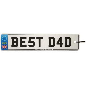 Best Dad Number Plate Car Air Freshener